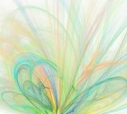 与轻的彩虹的抽象白色背景-绿色,绿松石, 免版税库存照片