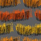 与绘画的技巧和之字形的手画抽象样式 向量例证