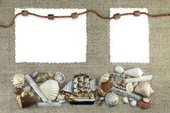 与绳索的海洋框架 库存照片