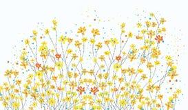 与黄水仙的花卉横幅开花逗人喜爱 免版税库存图片