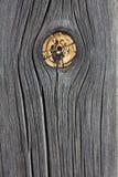 与结的被风化的木头 图库摄影