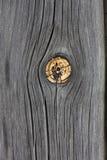 与结的被风化的木头 免版税图库摄影