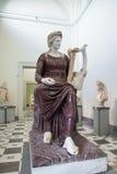与他的里拉琴的雕象阿波罗在那不勒斯全国考古学Mu 免版税图库摄影