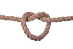 与结的绳索 免版税图库摄影