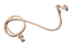 与结的绳索 库存图片