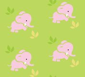 与滑稽的大象的无缝的样式 图库摄影