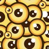 与滑稽的眼睛的无缝的样式 设计例证担任主角向量 向量例证