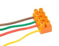 与终端的电缆 免版税库存图片