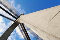 与建筑元素的抽象背景 免版税库存图片