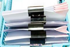 与黑纸夹的文件 库存照片