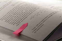 与贴纸标签的算术书 免版税库存图片