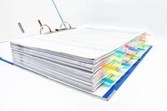 与贴纸的文件夹 免版税库存照片