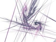 与紫罗兰色光芒的抽象分数维群 库存照片