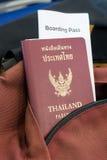 与登舱牌的泰国护照 库存照片