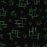 与绿色元素的无缝的纹理 库存照片