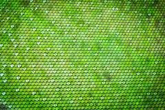 与绿色八角形物形状梯度的抽象背景 库存照片