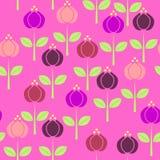 与绿色叶子和词根, l的简单的概要五颜六色的花 库存图片