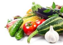 与绿色叶子的新鲜蔬菜 库存照片