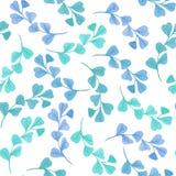 与绿色叶子的花卉无缝的样式 免版税图库摄影