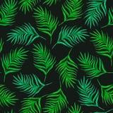 与绿色叶子的花卉无缝的样式 免版税库存图片