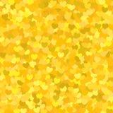 与黄色心脏的样式 免版税库存照片