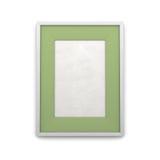与绿色插页的画框 免版税库存照片