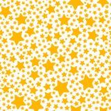 与黄色星的节日礼物无缝的样式 库存图片