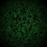 与绿色标志的矩阵背景,行动 免版税库存图片