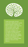 与绿色树的背景 免版税库存图片