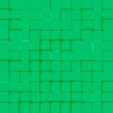 与绿色正方形的抽象明亮的背景 免版税图库摄影
