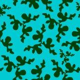 与绿色污点的样式在蓝色 免版税图库摄影