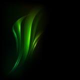 与绿色波浪的传染媒介背景 图库摄影
