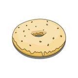 与黄色涂层的多福饼 免版税库存照片