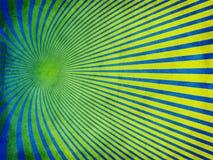 与黄色的减速火箭的难看的东西纹理蓝色 免版税库存图片
