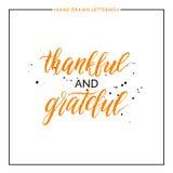 与黑色的感激和感恩的字法飞溅 库存例证