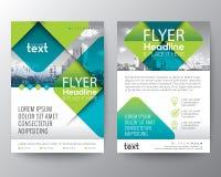 与绿色的抽象发怒对角方形的形状 小册子盖子飞行物海报设计版面的图表元素背景 库存例证