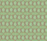 与绿色的概念现代几何六角形样式 在数字式样式的几何无缝的样式包装纸的 免版税库存照片
