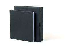 与黑色的空白的书 免版税库存图片