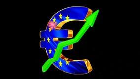 与绿色的货币符号与致敬的箭头 经济增长的概念  向量例证