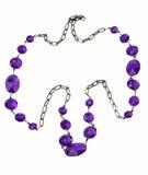 与紫色石头的项链 库存照片