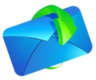 与绿色箭头的文件夹 图库摄影