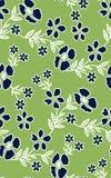 与绿色纹理的花卉无缝的样式背景 免版税图库摄影