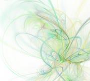 与绿色纹理,分数维样式的白色抽象背景 库存照片