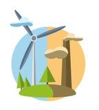 与绿色能量象的概念例证  库存图片