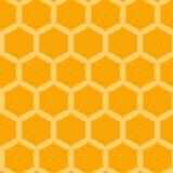 与黄色蜂窝的样式 库存图片