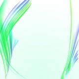 与绿色镶边纹理,空白的拷贝空间,传染媒介例证的抽象白色背景 库存图片
