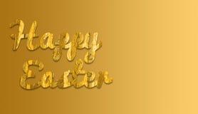 与黄色织品和梯度背景颜色的复活节快乐 库存图片