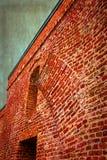与细节的老照片堡垒墙壁2 免版税图库摄影