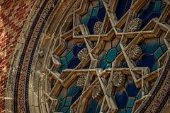 与细节的老照片从犹太教堂 库存照片