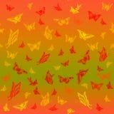 与蝴蝶的抽象无缝的样式 库存照片